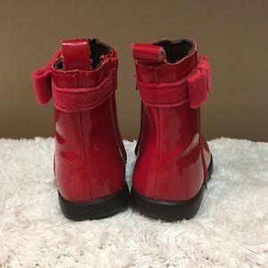 GAP Shoes - Baby Gap size 3 adorable red boots w/ velvet trim